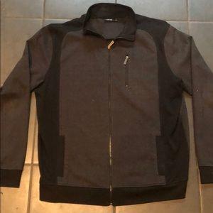 Men's Black Gray Zip Up Sweater Size XL Apt. 9